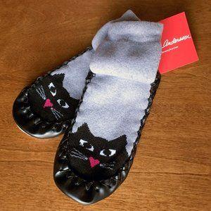 Hanna Andersson cat slipper socks NWT 12-1Y